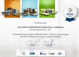 Corte a Laser - Prêmio de Competitividade